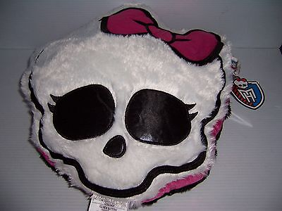 Monster High Ultra Plush Scary Cute Ghouls Cuddle Pillow Pink/black/white New!