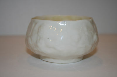 Vintage Belleek Lotus Pattern Sugar Bowl 3rd Black Mark