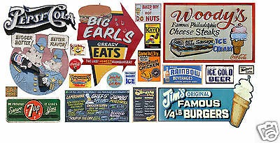 HO Scale Food & Beverage Building / Structure Decals #8
