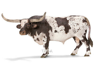 FREE SHIPPING | Schleich 13721 Texas Longhorn Bull Toy Model - New in Package