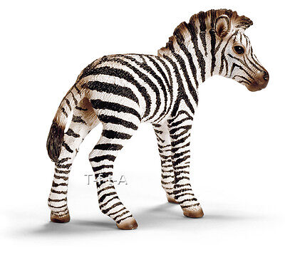 FREE SHIPPING | Schleich 14393 Zebra Foal Wild Animal Toy - New in Package
