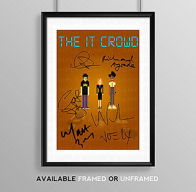 The It Crowd Cast Signed Autograph Print Poster Photo Tv Show Series Season I.t.