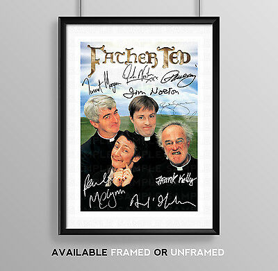 Father Ted Cast Signed Autograph Print Poster Photo Series Season Tv Show Dvd