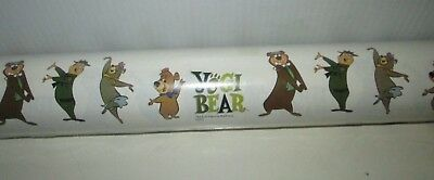 Vintage Hanna Barbera Yogi Bear Boo Boo Cindy Ranger Smith Wrapping Paper Roll