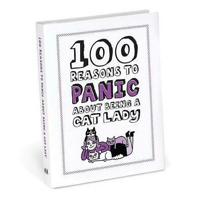 100 Reasons to Panic About Being A Cat Lady Book | cats pets lover feline