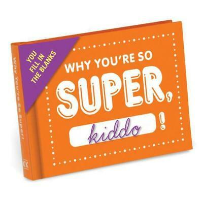 Why You're So Super, Kiddo! - Fill in Blanks Journal | Book Booklet Son Daughter