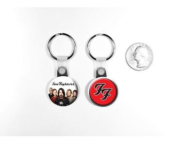 Foo Fighters Logo Rock Band Dave Grohl Set of 2 Key Chains