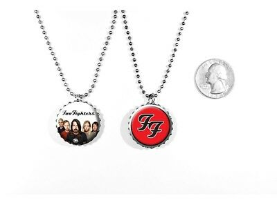 Foo Fighters Logo Rock Band Dave Grohl 2 Sided Necklace