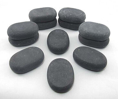 HOT STONE MASSAGE: 12 Medium Basalt Stones - 6.5 x 4.5 x 1.75 cm
