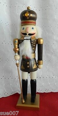 "Pier 1 Imports One Christmas Holiday Wood Nutcracker 12"" Toy Soldier"