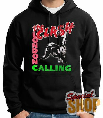 "SUDADERA CON CAPUCHA""THE CLASH-LONDON CALLING-PUNK ROCK""HOODIE,ENVIO 24/72 h"