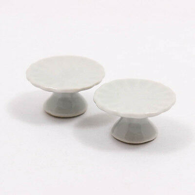 Cake Bakery Stand 15x25mm Dollhouse Miniature Ceramic Food Supply Deco A1121
