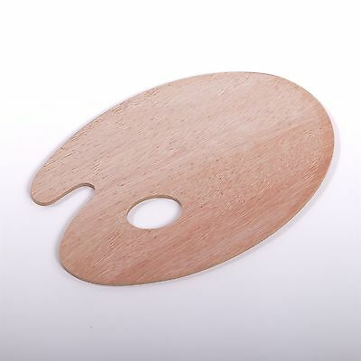 STABILE HOLZ MISCHPALETTE Farbpalette oval 20 x 30 cm, 5 mm