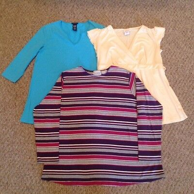 Casual Maternity Top Bundle - Size S (New Addition, Oh Baby, Gap - 3 Pieces)