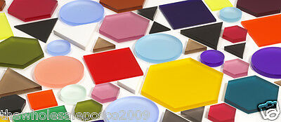 Acrylic Perspex Shapes Colour 3mm Thick Embellishments Scrap booking Supplies