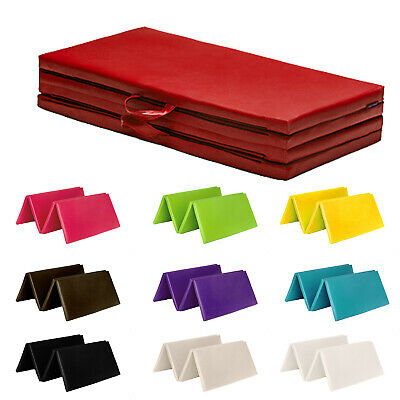"Fun!ture Folding Large 8ft Soft Play Gym Mat Exercise Yoga 2"" Foam PVC Gymnastic"