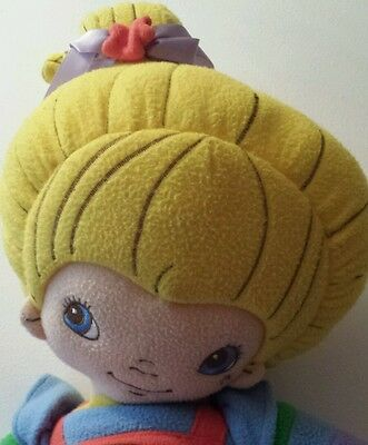"Rainbow Brite Blonde Doll Hallmark 2004 28"" plush pillow super soft fleece like"