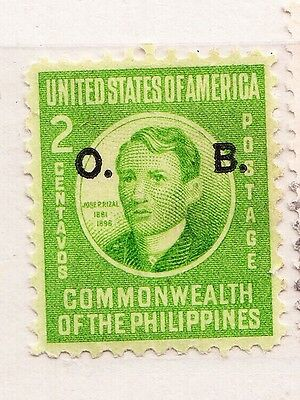 "1941 Philippines 2c Jose Rizal - Overprint with ""O.B."""