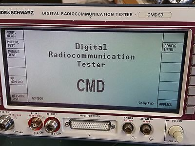Rohde & Schwarz CMD 57 Digital Communication Tester with Options