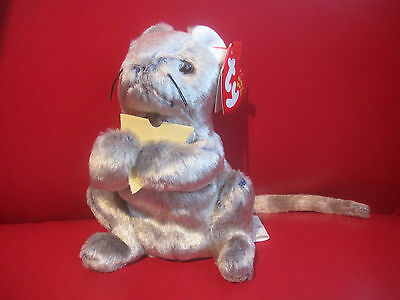 """Ty Beanie BABIES ~ Cheddar Mouse ~FROM 2002 8"""" Ty Punkies TALL MINT  RETIRED"""