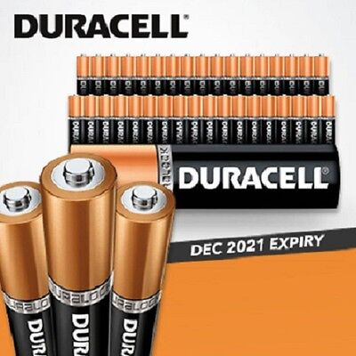 40 X New Genuine Alkaline Duracell AA Duralock Version Batteries also in 10x 20