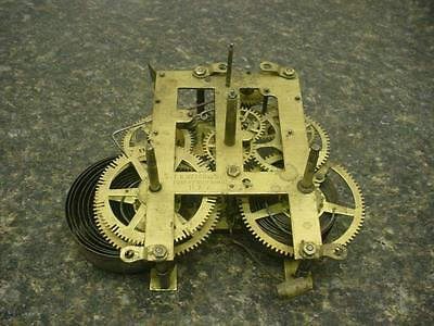 Vintage EN Welch Brass Mantle Wall Clock Kitchen Movement Time Strike Dial E063
