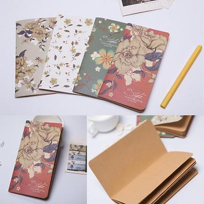 Stylish Vintage Leaf Leather Cover Loose Leaf Blank Notebook Journal Diary Gift