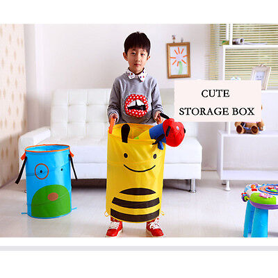1PC For kids Child Room Decor Clothes Toys Books Storage Cartoon Fold  Bucket