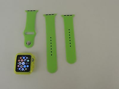 Green Sports Soft Silicone Bracelet Band Replacement Strap for Apple Watch 42mm
