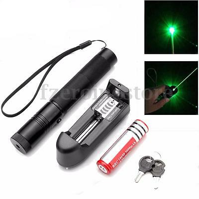 Laser Pen 301 Green Laser Light Pointer Suit + 18650 Battery + Charger Free Box