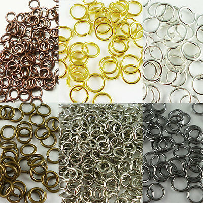 Jump Rings Antique Copper Silver Bronze Gold Various Options Sizes Nickel Free