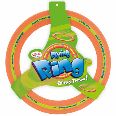 Flying Ring Frisbee - Children's Bright Rubber Aero Frizbie Outdoor Toy
