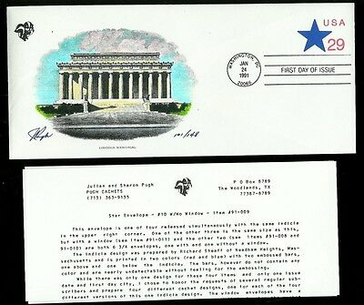 Pugh Handpainted Stationery FDC With Info Letter U619 Star Envelope