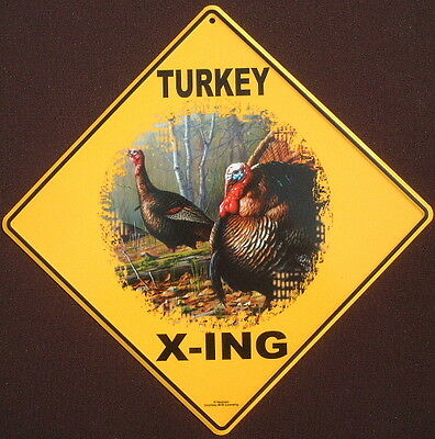 TURKEY  X-ING Sign aluminum decor wildlife birds novelty home turkeys home signs