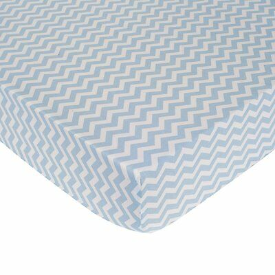 Carter's Zig Zag Crib Fitted Sheet - Blue