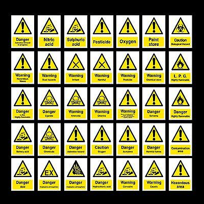 Chemicals / Acid / Oxygen / Chlorine / LPG / Corrosive - Plastic Sign, Sticker