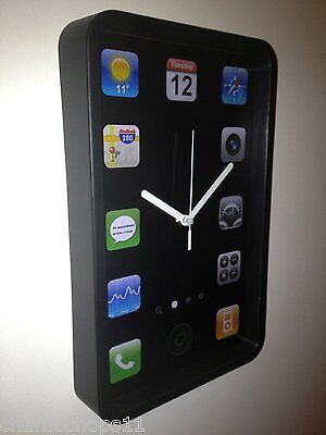 Wall mounted freestanding giant iPhone iPad clock smartphone clock
