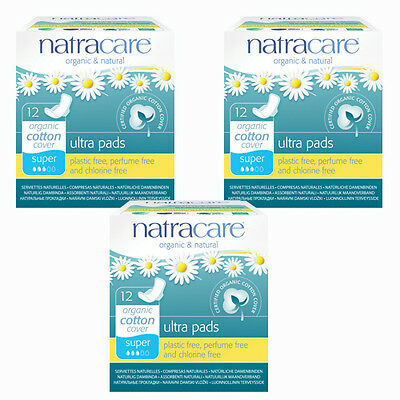 Natracare Organic Sanitary Towels: Ultra Pads, Winged Super X 3