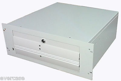 """Beige 4U Rackmount Server Chassis. 19"""" Rack for Extended ATX Boards. ISD-400"""
