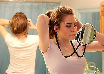 hands free, around the neck mirror. Great for viewing back of head
