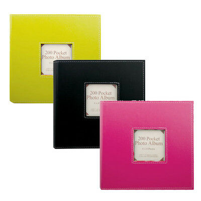 "Tallon 6"" X 4"" Vibrant Photo Album - 200 Pockets - 1752(Assorted Colour)"