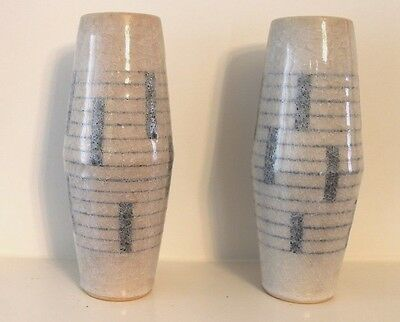 Unique South East Asian Vase Pair, Marked & Signed