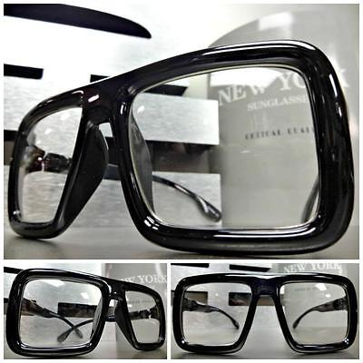 large old school vintage retro style clear lens glasses frame hipster nerd smart