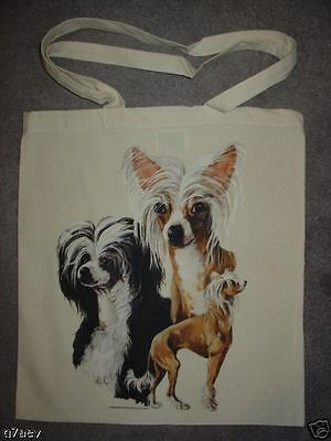Chinese Crested Dogs On A Tote Canvas Bag