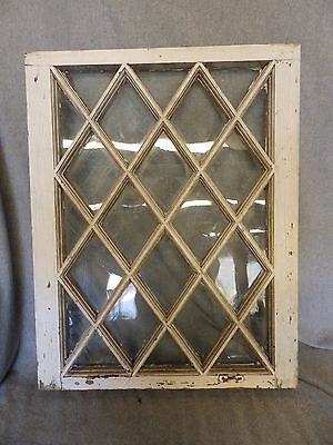 Antique Casement Window Sash Diamond Cabinet Cupboard Pantry Door Old 5021-15