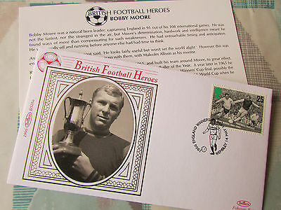 Benham Bobby MOORE British FOOTBALL Heroes LE First Day Cover / FDC
