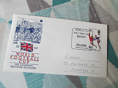 HUNGARY v BULGARIA  Manchester World Cup 1966 FOOTBALL First Day Cover / FDC