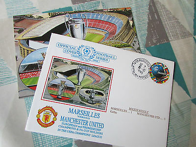 MARSEILLE v MANCHESTER United 1999 Champions League FOOTBALL First Day Cover