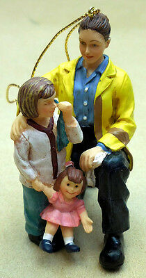 "Firefighter Ornament, ""comfort And Solace""  Female And Child, Item88383"