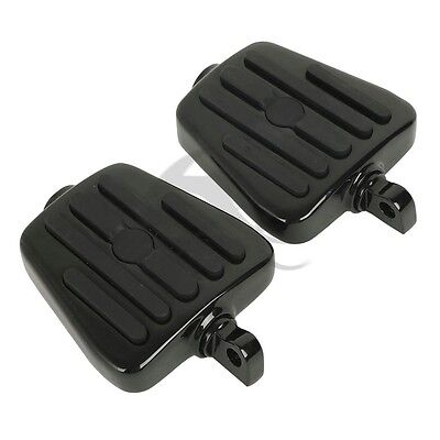 Motorcycle Highway Peg Mini Footboards Multi-Fit For Harley Dyna Softail Black